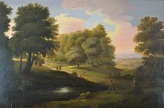 North european school (19th century) - Hunters in a landscape