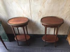 Pair of Louis XV side tables, 20th century