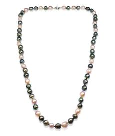Exquisite Necklace Featuring 41 Tahitian Pearls and 24 Freshwater Pearls Measuring 10.3x12.8mm  ** NO RESERVE **