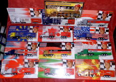 Various - Scale 1/87 - Lot with 113 Models: 13 x Schumacher Collection, plus about 100 different brewery and consumer goods trucks - lorries