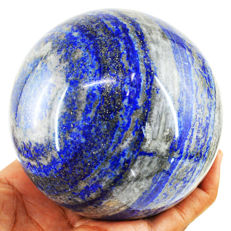 "Top Big Blue lapis Lazuli  ""healing ball"" - 91 mm - 1049 gm"