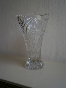 A Baccarat vase in cut crystal signed R. Gross, France, mid-20th century
