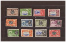 Cayman Islands 1935/1936 - Scott 85/96
