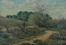F. VAN CAMPENHOUT (early 20th century) - Paysage de campagne