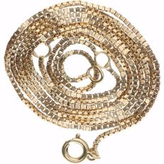 14 kt – Yellow gold Venetian link necklace – Length: 60 cm