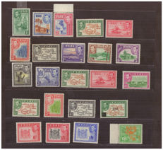 Fiji 1935 - A small selection on a stock page, Stanley Gibbons 249/266b