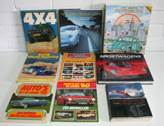 Batch / collection of 9 car books