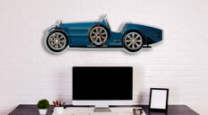 Halmo Collection Bugatti Type 35 Plexiglass Model
