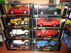 Maisto / Bburago - Scale 1/18 - Lot with 8 models from 1930 to 1999