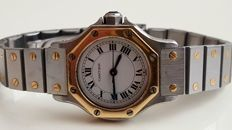 Cartier - Santos Octagon - Gold/Steel - Dames - 1980-1989