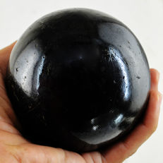 "Top Rare Black Tourmaline ""healing ball"" - 90 mm - 1050 gm"