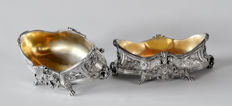Pair of silver gravy boats, Schwarz & Steiner, Austria, early 1900s