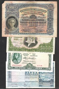 World - 19 World banknotes