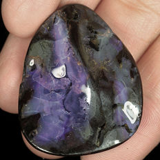 Large Untreated 100% Natural Australian Black Boulder Opal Cab - 35x27x7 mm - 71.4 ct