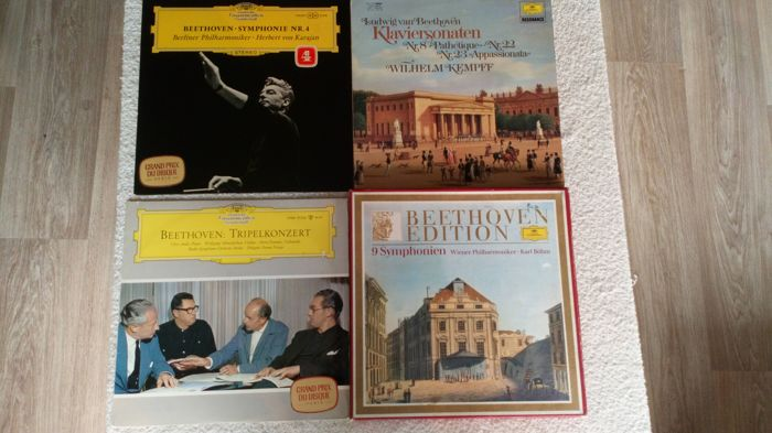 A fantastic lot of 12 LP's, 1 doublealbums and 1 boxset with 8lp's with wonderful classic Music all on the worldfamous Deutsche Grammophon Gesellschaft lable. The boxset is special made for the anniversary of the 150th death of the composer!