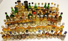 Miniature bottles - Lot of 85 mini bottles.