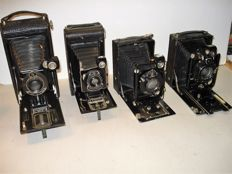 Antique old photo cameras, roll film and plate cameras from approx. 1920