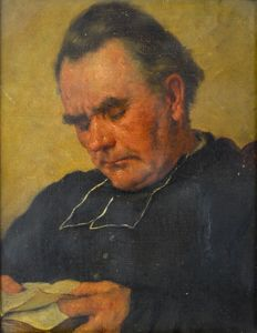 Continental school (19th century) - The dozing cleric