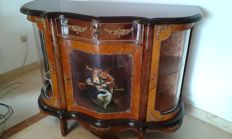 A Napoleon III style style side cabinet, second half 20th century