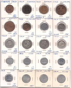 Italy and Yugoslavia - Lot various coins 1861/1998 (142 pieces) - including silver