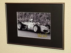 Phill Hill (RIP) -Ferrari Worldchampion Formula 1 - hand signed framed photo + COA.