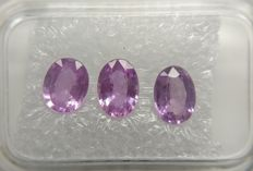 Triple Sapphire Pink to Purplish Pink 2.13 ct  Fine Color Quality     No Reserve Price