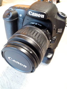 CANON 30D PRO DIGITAL CAMERA WITH GRIP AND 18-55 EFS