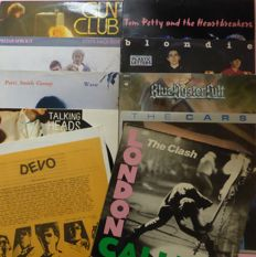 Set of 10 Wave/punk/powerpop albums; by Devo, Tom Petty and The Heartbreakers, The Clash, Blondie, The Cars, Blue Oyster Cult (2), Gun Club, Talking Heads, Patti Smith and Prefab Sprout