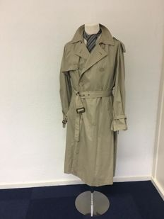 Yves Saint Laurent - trench coat,  tie and belt