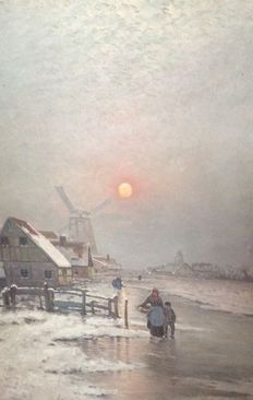 Conn. Odenthal? (20e eeuw) - Winter in Holland
