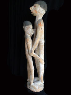 Fascinating Double ancestor figures  - ASMAT - Papua (New Guinea)
