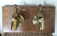 Beautiful bronze faucets (two colours), period 1st half 20th century. Origin France