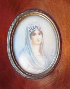 Miniature of Josephine of Beauharnais - Josephine Bonaparte - France - c. 1920