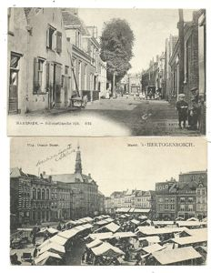 Collection of postcards consisting of Dutch villages and towns, 114 x