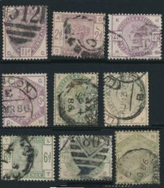 Great Britain 1855/1980 - Collection on stock cards and satchets