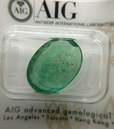 Emerald Green 8.42 ct    No Reserve Price