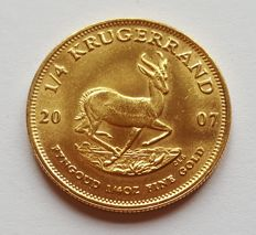 South Africa - ¼ Krugerrand 2007 - ¼ oz of gold