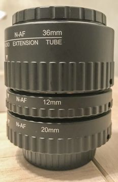AF Macro Extension Tube Set for Nikon