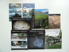 Faeröer 2000/2007 - complete set official year collections