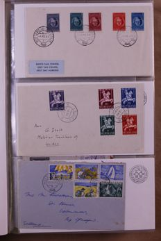 The Netherlands 1945/1981 - Batch of FDCs, covers and postal items in 3 albums
