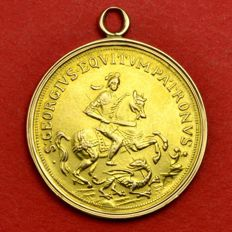 Austro-Hungary Empire - Goldmedaille c. 1900 Kremnitz St. George Gold