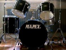 Mapex black acoustic drums