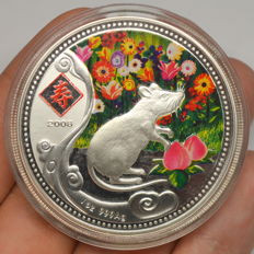Niue - 1 Dollar 2008 'Year of the Mouse' - 1 oz silver