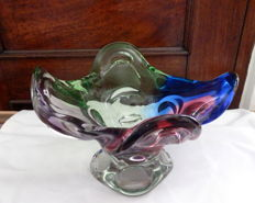 A Vintage Multicolor Footed Fruit Bowl (3600 gr) , ca. 1980's
