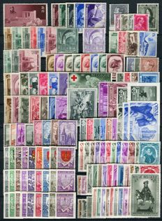 Belgium 1938/1941 - 4 complete years without blocks - OBP 465A/592