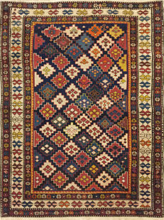 Wonderful antique Shirvan Kuba rug, 142 x 108