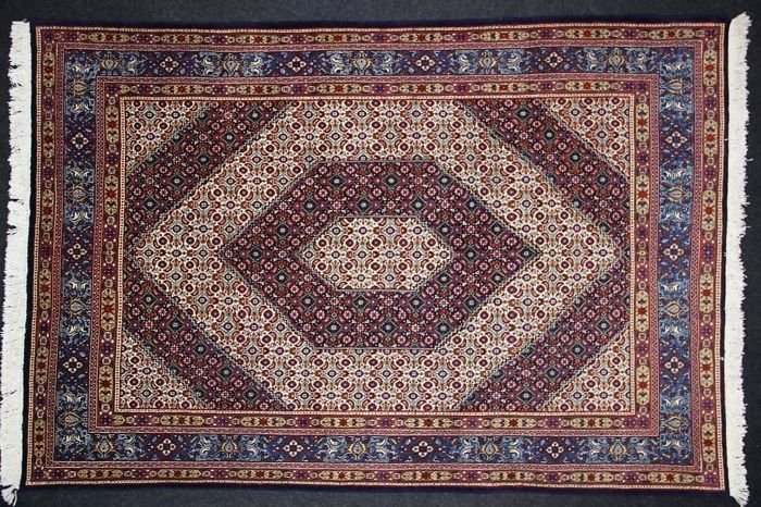 Very lovely MOUD carpet, IRAN, Hand-knotted, 20th century, 312 x 210 cm