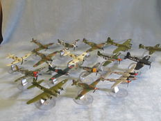 16 x assorted Corgi 1:72nd scale model diecast aircraft complete with stands.