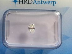 Diamond in oval cut 0.27 ct STW I VS 2 with HRD certificate