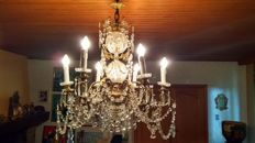 Crystal chandelier, 2nd half of the 20th century